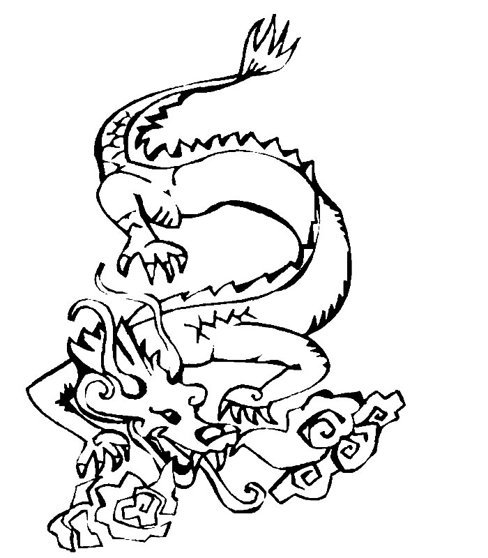 Coloriage Asiatique Coloriages Dragon