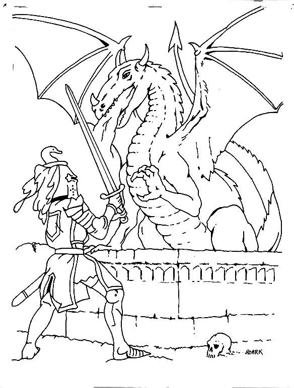 Coloriage Chevalier Coloriages Dragon