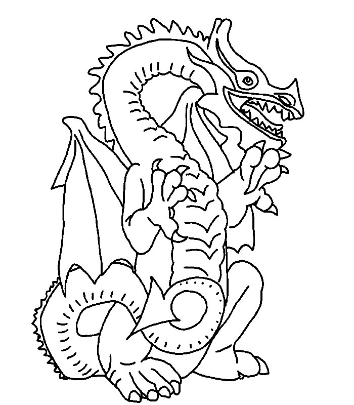 Coloriage dragon rouge coloriages dragon - Modele dessin dragon ...