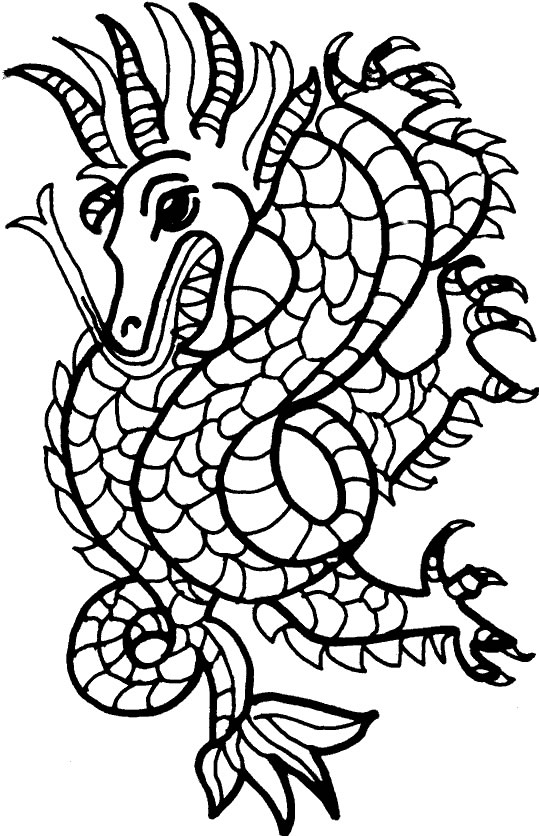 Coloriage mosaique coloriages dragon - Modele coloriage ...