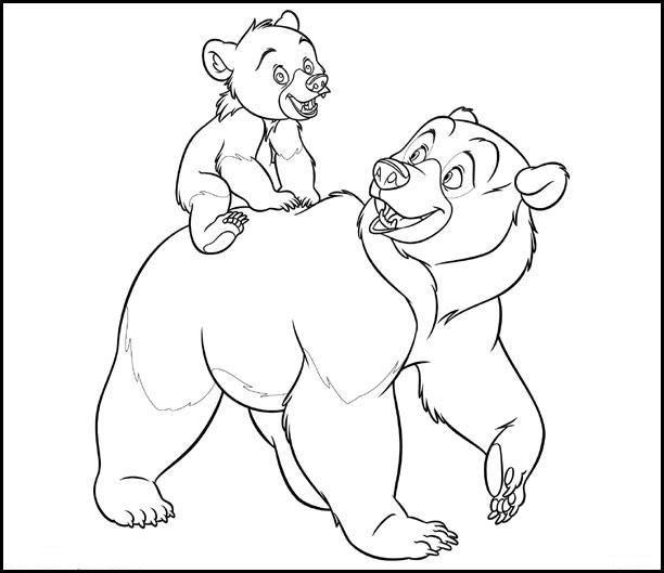 coloriage ils tracent le chemin kinaii et le petit ourson
