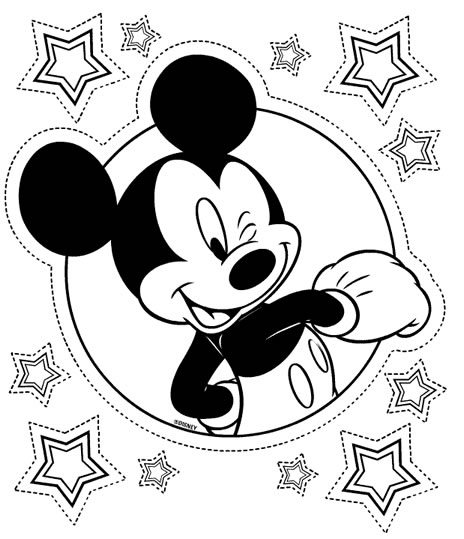 Coloriage Mickey Super Star Coloriages Mickey